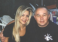 Gloria Hansen and dad in 1999